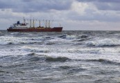 vessel in stormy sea